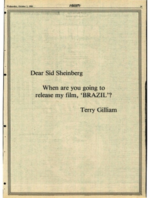 terry gilliam sheinberg